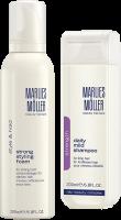 Marlies Möller Topseller Set 2 = Strength Daily Mild Shampoo 200 ml + Style & Strong Strong Styling Foam 200 ml