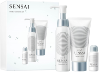 Sensai Silky Purifying Double Cleansing Set = SP Cleansing Oil 30 ml + SP Creamy Soap 30 ml + SP Peeling Powder 5 g