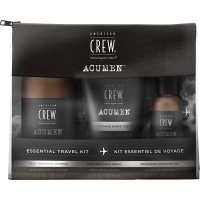 American Crew Acumen Travel Set = Daily Thickening Shampoo 100 ml + Soothing Shave Cream 100 ml + Energizing Hydrating Gel 50 ml
