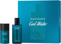 Davidoff Cool Water Set = E.d.T. Nat. Spray 75 ml + Deodorant Stick 75 ml
