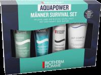 Biotherm Aquapower Starter Kit = PNM 30ml + Aquafitness Duschgel 40ml + Sensitive Force Rasierschaum 50ml + Lait Corporel 100ml