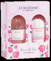 L'Occitane Rose Körperpflege-Duo Set = Duschgel 250 ml + Körpermilch 250 ml