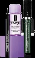 Clinique High Impact Mascara Set = High Impact Mascara 7 ml + Take The Day Off Makeup Remover 30ml + Pretty Easy Liquid Eyelining Pen 0,34 g