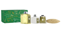 L'Occitane Körperpflege-Geschenkset Verbene Xmas20 = Duschgel 250 ml + Körpermilch 70 ml + Handcreme 75 ml + Seife 75 g