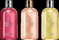 Molton Brown Xmas Bathing Trio Set - for her = Fiery Pink Pepper Bath & Shower Gel 300 ml + Orange & Bergamot Bath&Gel 300 ml + Jasmine & Sun Rose B&SG 300 ml