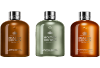 Molton Brown Xmas Bathing Trio Set - for him = Tobacco Absolute Bath & Shower Gel 300 ml + Geranium Nefertum Bath & Shower Gel 300 ml + Black Pepper B&SG 300 ml
