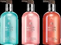 Molton Brown Xmas Hand Wash Trio Set = Coastal Cypress & Sea Fennel Hand Wash 300 ml + Rhubarb & Rose Hand Wash 300 ml + Heavenly Gingerlily Hand Wash 300 ml