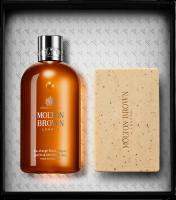 Molton Brown Black Pepper Bathing Duo Xmas Set = Bath & Shower Gel 300 ml + Bodyscrub Bar 250 g