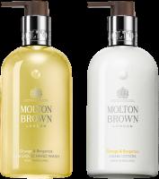 Molton Brown Xmas Orange & Bergamot Hand Duo Set = Fine Liquid Hand Wash 300 ml  + Hand Lotion 300 ml