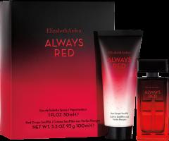 Elizabeth Arden Always Red  Set = E.d.T. Nat.Spray + Love Drops Body Cream