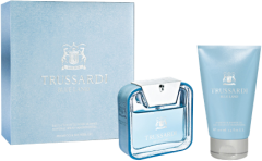 Trussardi Blue Land Value Set = E.d.T. Nat.Spray + Shampoo & Shower Gel