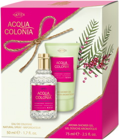 No.4711 Acqua Colonia Pink Pepper & Grapefruit Set = E.d.C. Nat. Spray 50 ml + Aroma Shower Gel 75 ml