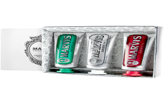 Marvis 3 Flavour Box = Classic Strong Mint 25 ml + Whitening Mint 25 ml + Cinnamon Mint 25 ml