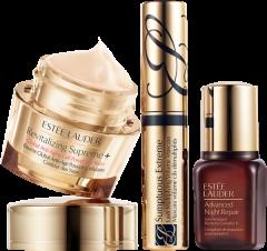 Estée Lauder Revitalizing Supreme+ Set = Revitalizing Supreme+ Global Anti-Aging Power Eye Balm + Advanced Night Repair Serum + Sumptuous Extreme Mini Mascara