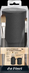 Da Vinci Make-Up Pinselset = Pinselbox + Foundationpinsel + Eyeliner + Applikator + Augenbrauenpinsel