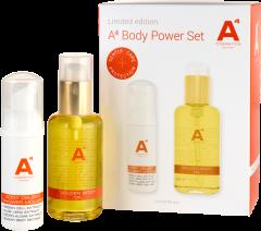 A4 Cosmetics Body Power Set = Golden Body Oil 100 ml + Body Delight Shower Mousse 50 ml