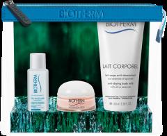 Biotherm Aquasource Set = Crème PS + Lait Corporel Lait Corps Anti-Desséchant + Biosource Eau Micellaire