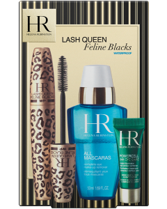 Helena Rubinstein Coffret = Lash Queen Feline Blacks 7 ml + All Mascaras! Complete Eye Make-Up Remover 50 ml + Powercell The Eye Care 3 ml