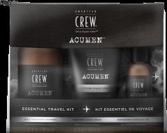 American Crew Acumen Travel Set = Daily Thickening Shampoo 100 ml + Soothing Shave Cream 100 ml + Energizing Hydrating Gel 50 ml