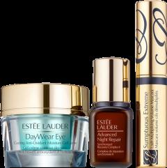 Estée Lauder DayWear Set = DayWear Eye Cool Anti-Oxidant Moisturizing Gel Cream 15 ml + ANR Synchronized Complex II 7 ml + Sumptuous Extreme Mascara Nano 2,8 ml