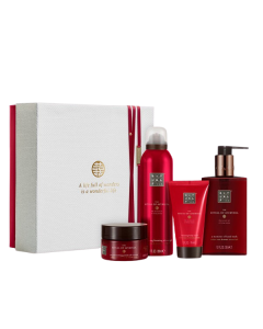 Rituals The Ritual of Ayurveda Rebalancing Giftset Medium = Foaming Shower Gel 200 ml + Pik Salt Scrub 125 g + Body Cream Cream 70 ml + Hand Wash 300 ml