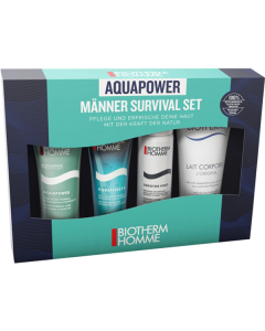 Biotherm Aquapower Starter Kit = PNM 30ml + Aquafitness Duschgel 40ml + Sensitive Force Rasierschaum 50ml + Lait Corporel 100ml