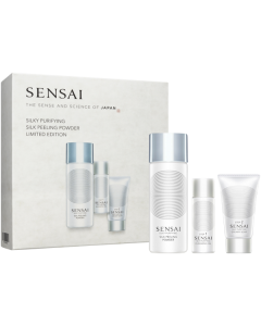 Sensai Silky Purifying Peeling Powder Set = Silky Purifying Peeling Powder 40 g + Cleansing Oil 30 ml + Creamy Soap 30 ml