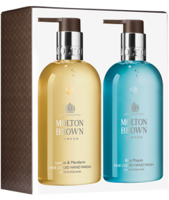Molton Brown Hand Wash Duo = Lemon&Mandarin 300 ml + Blue Maquis 300 ml