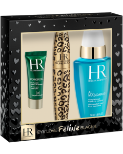 Helena Rubinstein Feline Blacks Mascara Set = Feline Black 001 + All Mascaras 50ml + PDY Cellglow Eyecream 3 ml