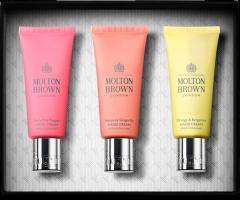 Molton Brown Hand Cream Trio Xmas Set = Replenishing Hand Cream 40 ml + Gingerlily Hand Cream 40 ml + Orange & Bergamot Hand Cream 40 ml